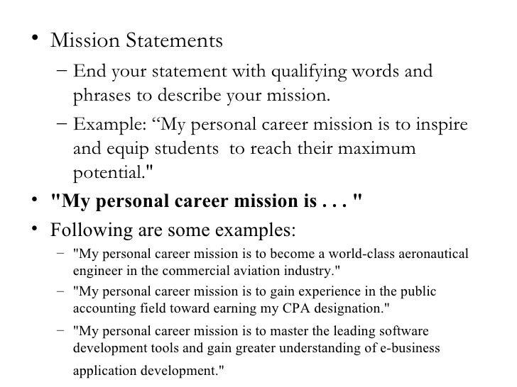 sample mission statements