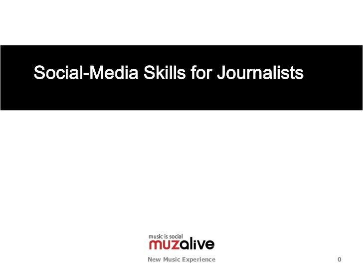 기자들을 위한 저널리즘 SNS 활용법