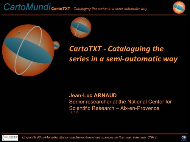 CartoTXT - Cataloguing the cartographic series in a semi automatic way