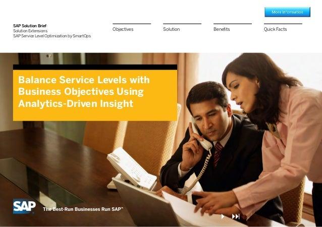 SAP Solution BriefSolution Extensions                          Objectives   Solution   Benefits   Quick FactsSAP Service L...