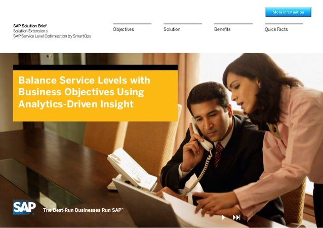 Balance Service Levels with Business Objectives Using Analytics-Driven Insight
