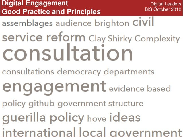 Digital Engagement, UK Govt 2012