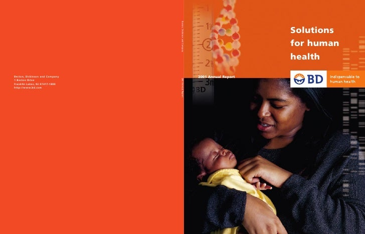 for human     Solutions       health                                  2001 Annual Report Becton, Dickinson and Company    ...