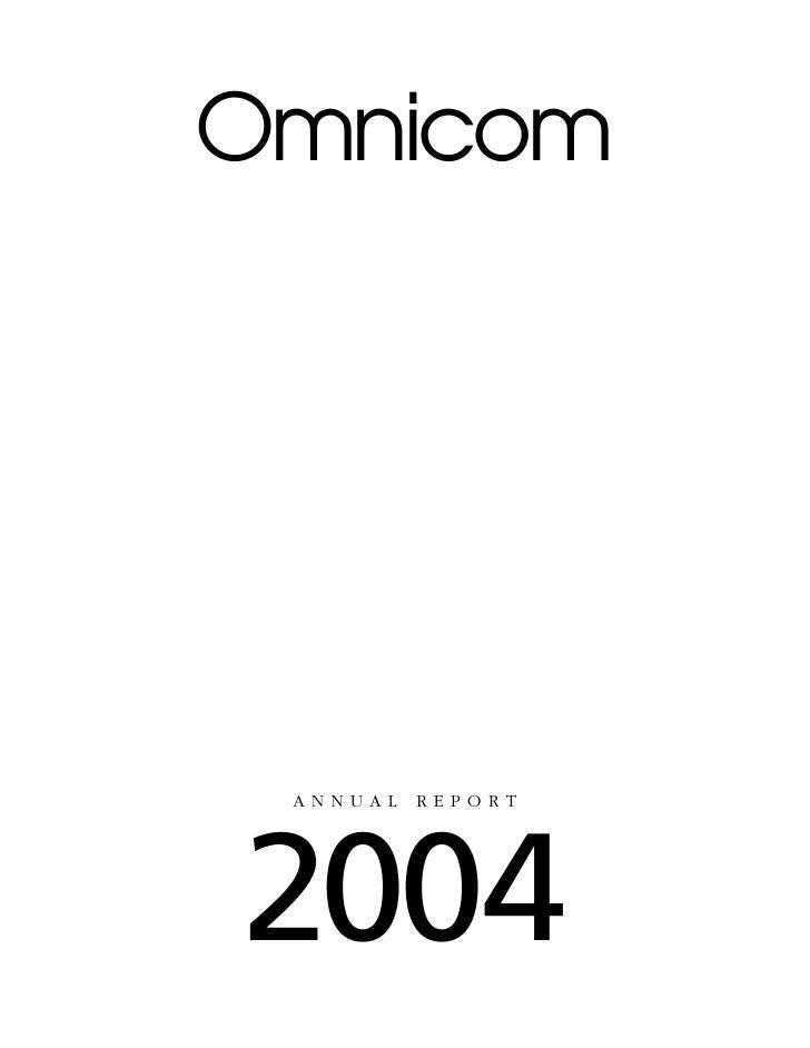 Omnicom      ANNUAL   REPORT     2004