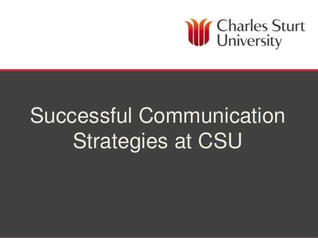 Successful Communication    Strategies at CSU                DIVISION OF FACILITIES MANAGEMENT