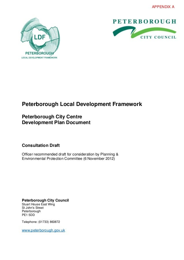 Peterborough City Centre Development Plan (Draft, Nov 2012)
