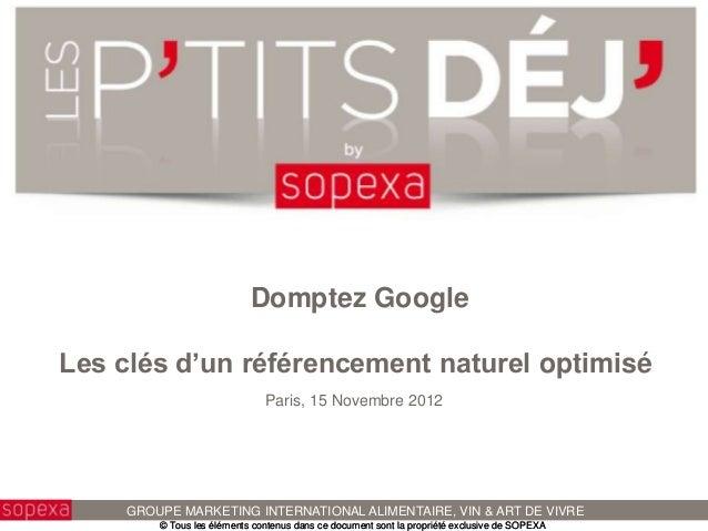 SOPEXA - Les P'tits Déj' by Sopexa - Améliorer votre popularité sur le web
