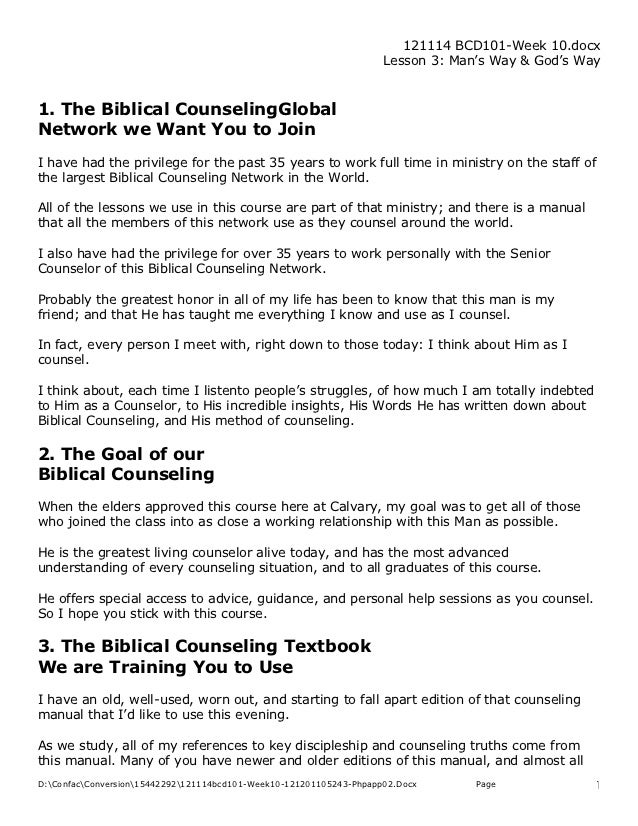 BC&D-10: The Biblical Counseling Global  Network we Want You to Join
