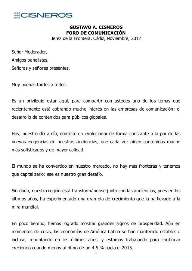 GUSTAVO A. CISNEROS                            FORO DE COMUNICACIÓN                     Jerez de la Frontera, Cádiz, Novie...