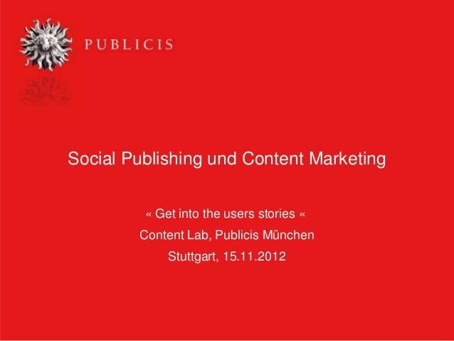 Social Publishing und Content Marketing
