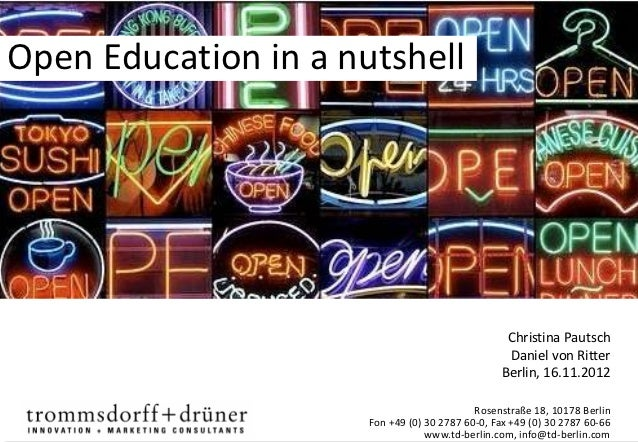Open Education in a nutshell                                                  Christina Pautsch                           ...