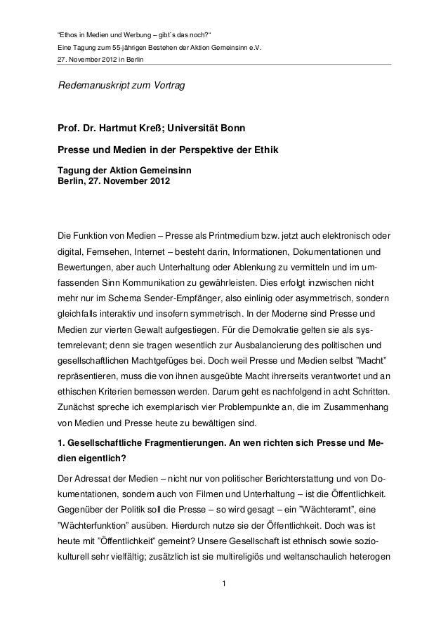 """""""Ethos in Medien und Werbung – gibt´s das noch?""""Eine Tagung zum 55-jährigen Bestehen der Aktion Gemeinsinn e.V.27. Novembe..."""