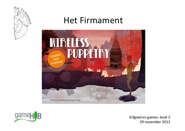 "Erfgoedgame ""Wireless puppetry"" 
