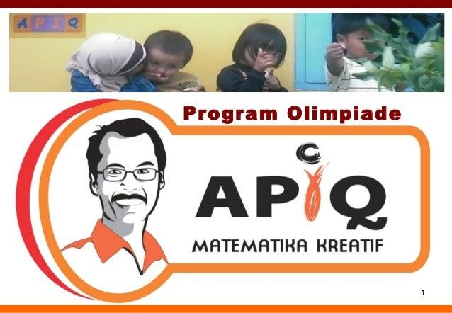 Olimpiade Matematika Kreatif bersama APIQ
