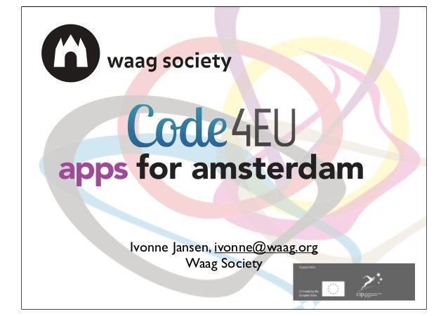 Apps for Antwerp presentation Waag Society