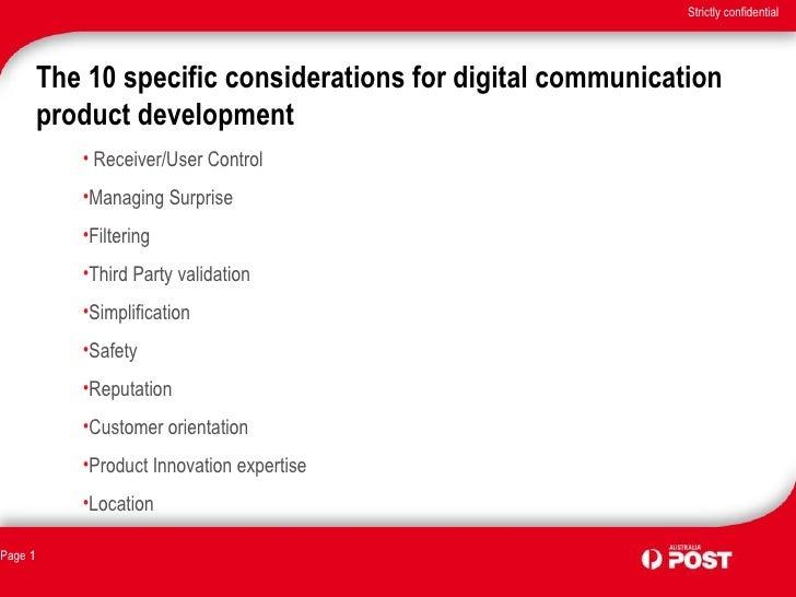 The 10 specific considerations for digital communication product development <ul><li>Receiver/User Control </li></ul><ul><...