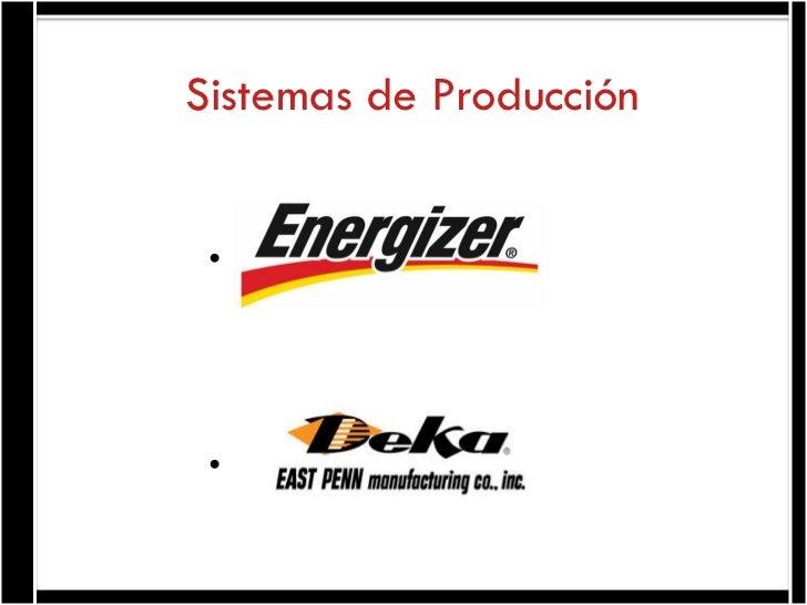 Sistemas de Producción • •