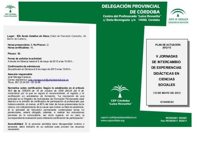 V Jornadas de Intercambio de Experiencias didácticas en Ciencias Sociales.
