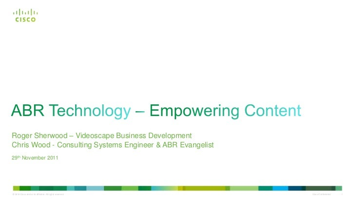 ABR Technology--Empowering Content