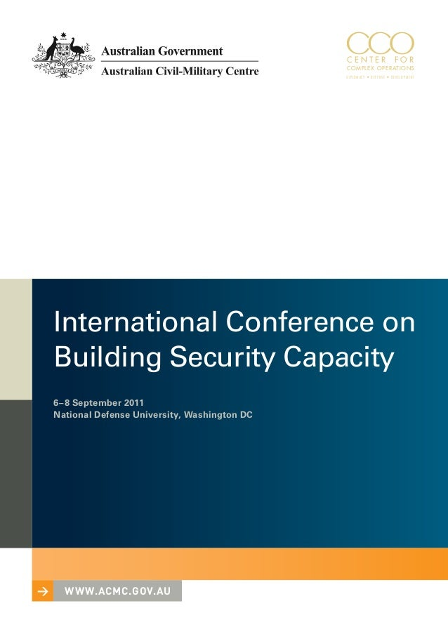 International Conference on Building Security Capacity