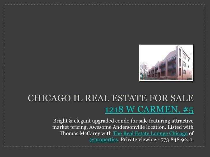 Chicago Real Estate - Andersonville Condo for Sale