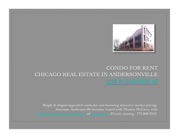 Bright & elegant upgraded condo for rent featuring attractive market pricing.            Awesome Andersonville location. L...
