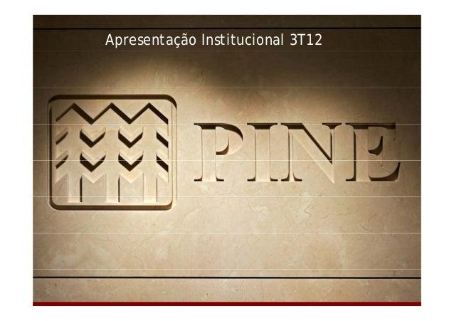 Apresentação Institucional 3T12  Relações com Investidores | 3T12 | 1/33