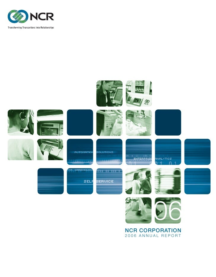 06 NCR CORPORATION 2006 ANNUAL REPORT