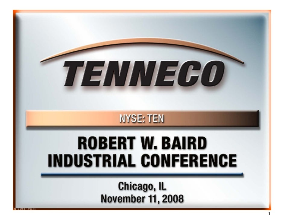 Baird's 2008 Industrial Conference