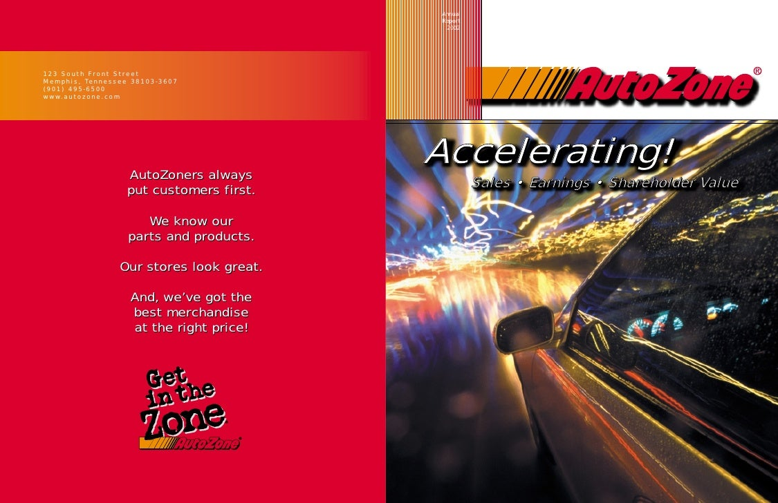 Annual Report  2002     Accelerating!  Accelerating!          Sales • Earnings • Shareholder Value              Sales • Ea...