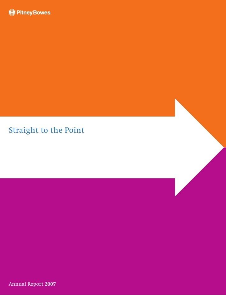 Straight to the Point     Annual Report 2007