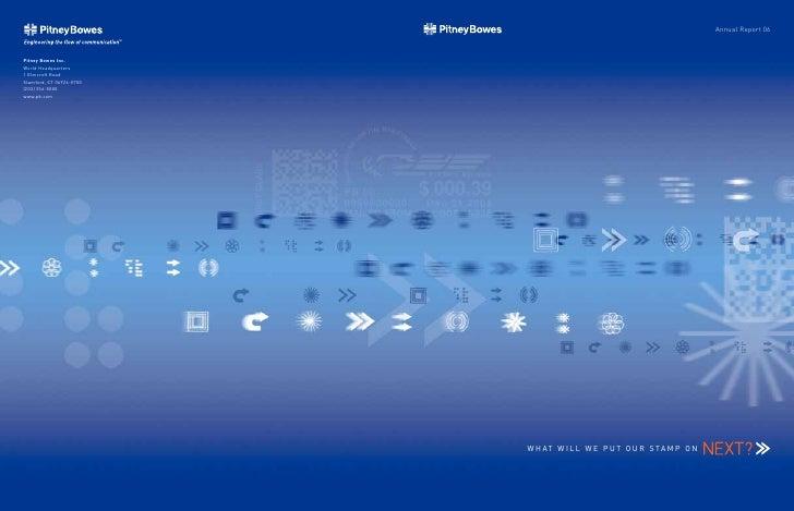 Annual Report 06     W H AT W I L L W E P U T O U R S TA M P O N