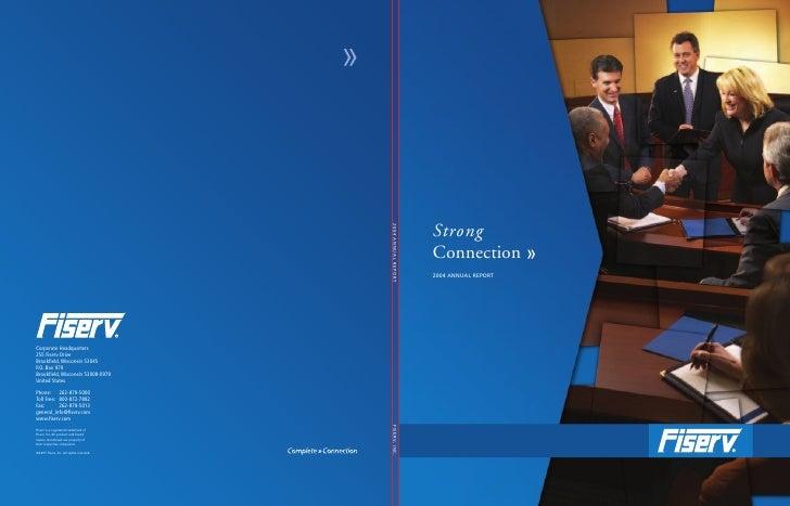 fiserv annual reports 2004