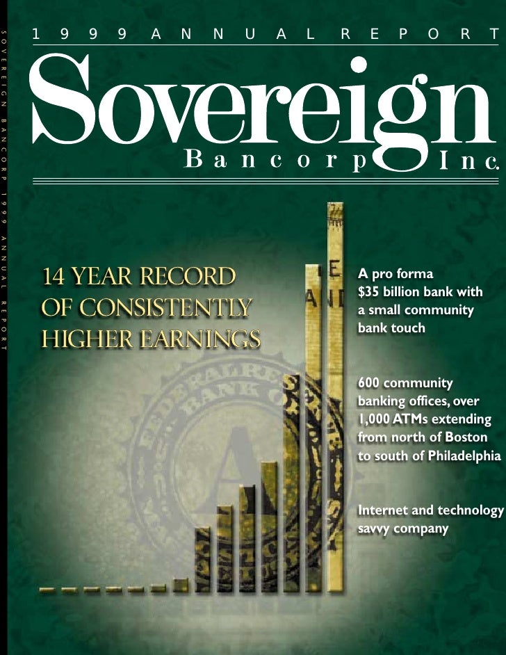 soverreigh bancorp 1999_annual_report