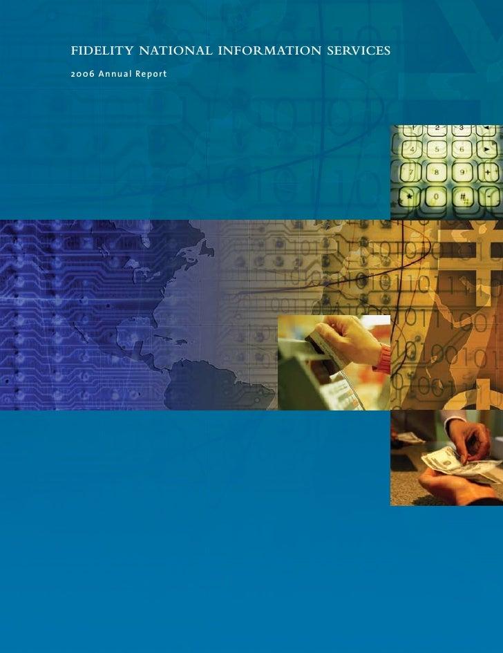 fidelity national information  2006 ar