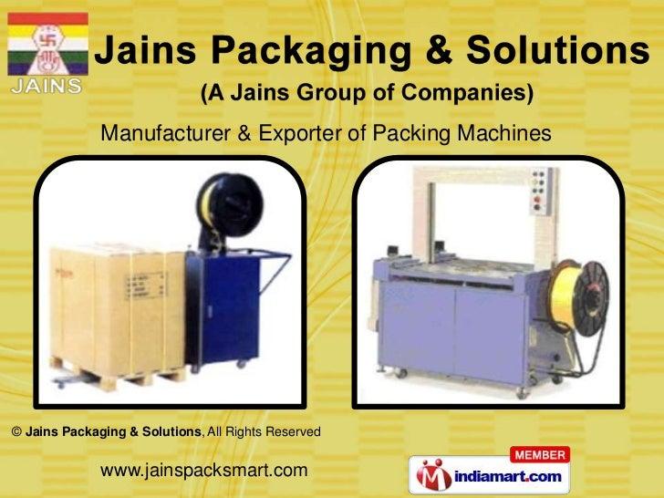 Jains Packaging & Solutions (A Jain Group Of Companies) Tamil Nadu India