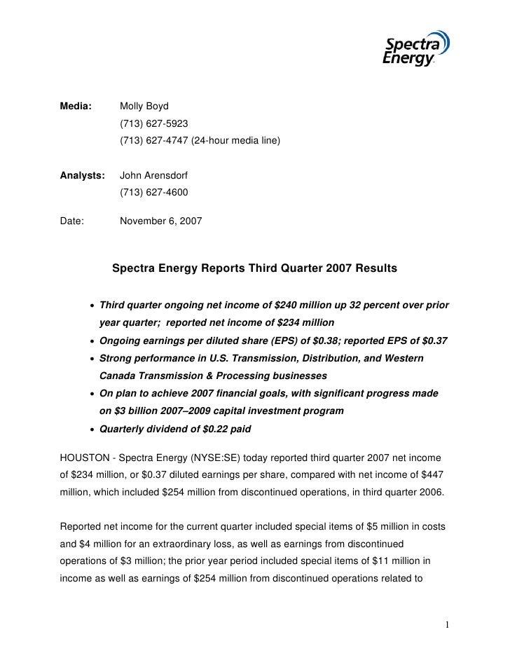spectra energy 3QEarningsRelease