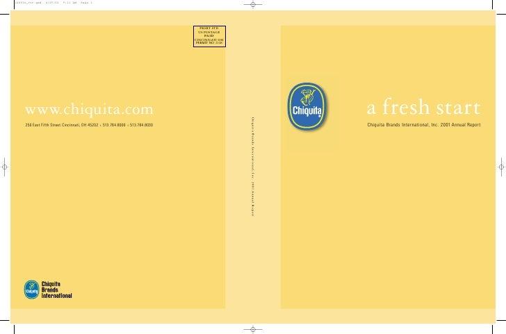chiquita brands international 2001annual