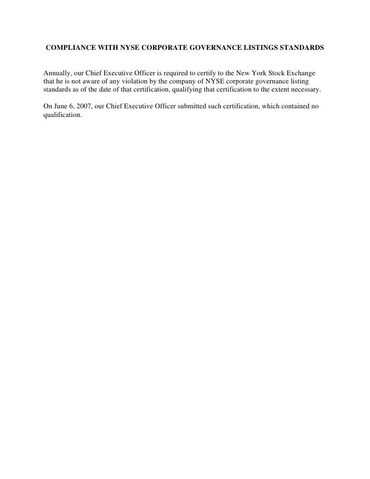 perini   nyse_compliance