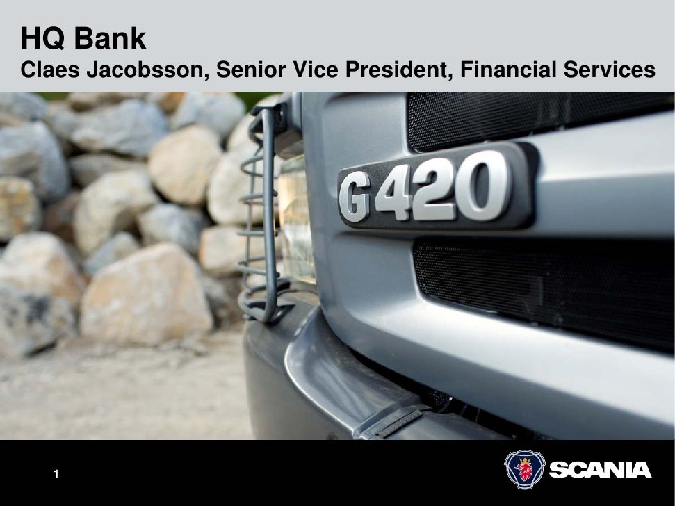 HQ Bank Claes Jacobsson, Senior Vice President, Financial Services        1