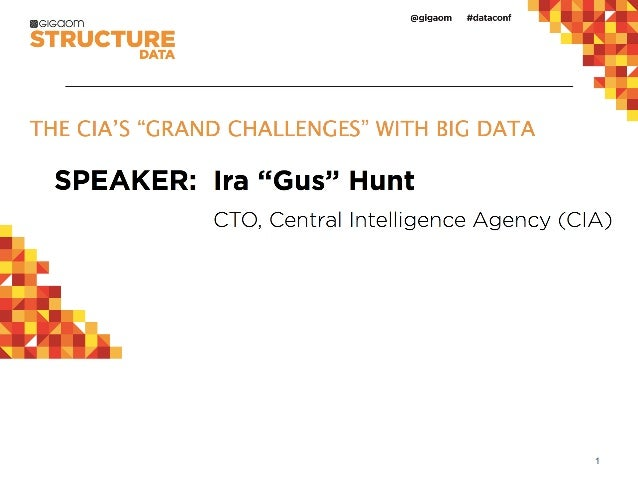 "THE CIA'S ""GRAND CHALLENGES"" WITH BIG DATA from Structure:Data 2013"