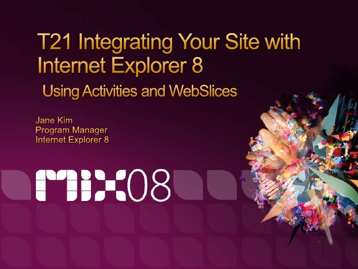 Integrating Your Site With Internet Explorer 8