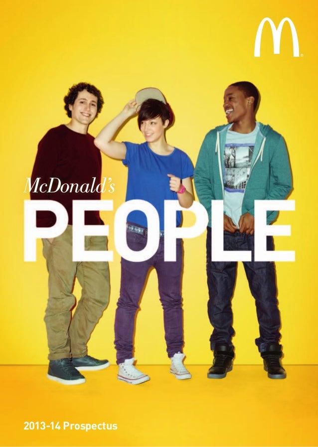 McDonald's People: 2013-14 Prospectus