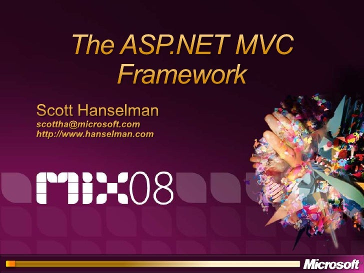 Developing ASP.NET Applications Using the Model View Controller Pattern