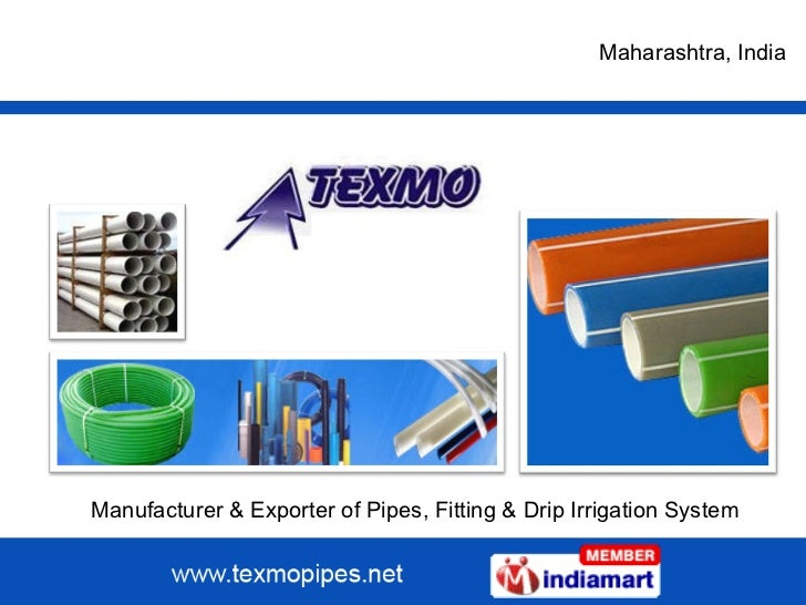 Manufacturer & Exporter of Pipes, Fitting & Drip Irrigation System Maharashtra , India