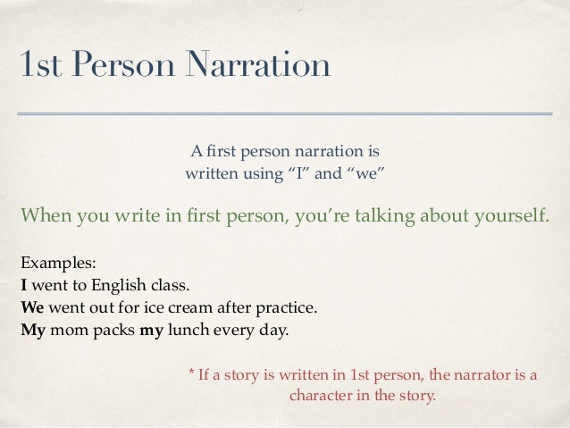 First person narrative essay elementary examples