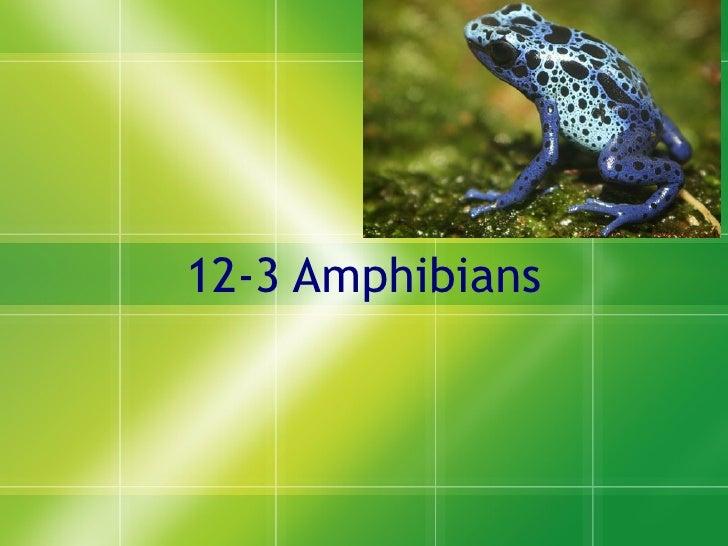 12-3 Amphibians