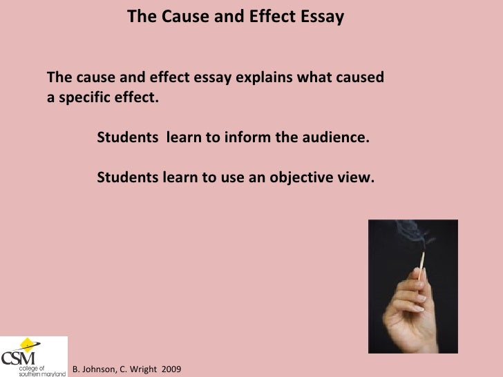 teaching cause and effect essays Home » teaching materials » teaching english language learners » from the university why did it happen making claims about cause and effect texts and essays.
