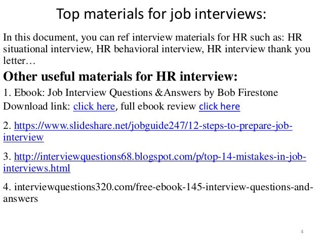 124 hr interview questions and answers pdf