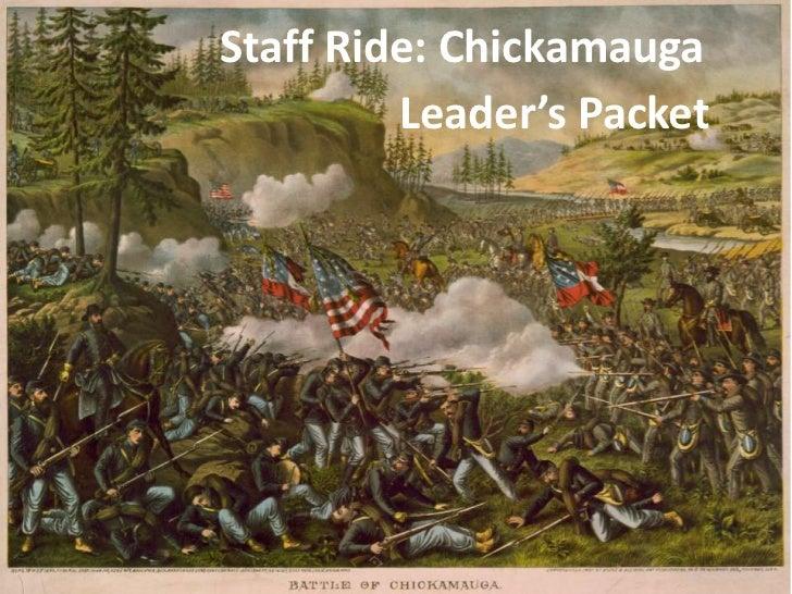 *DRAFT** 124th MPAD Chickamauga staff ride (leader)